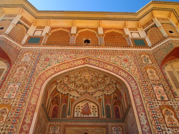 a beautiful gate at the Amber Palace