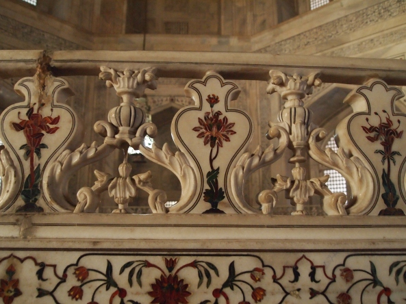 some of the great carvings inside the mausoleum