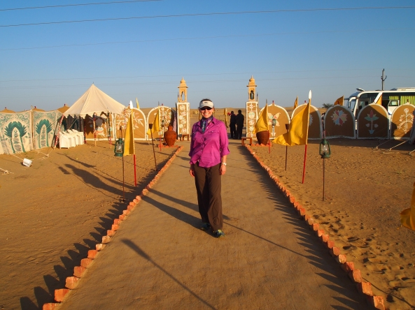 Jayne at the Royal Desert Camp