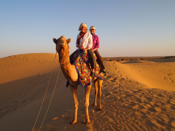 "me with jayne on our camel ""safari"""