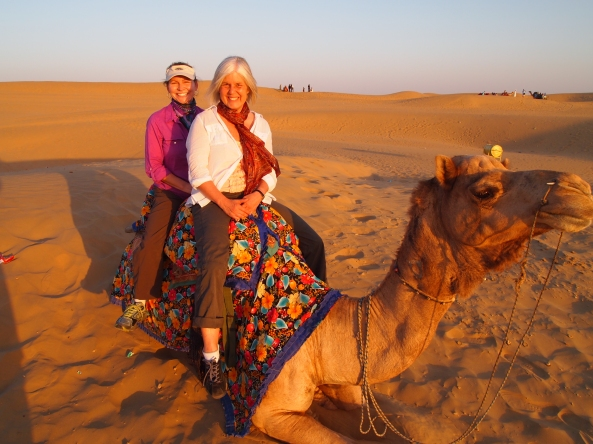 sunset on the camel safari