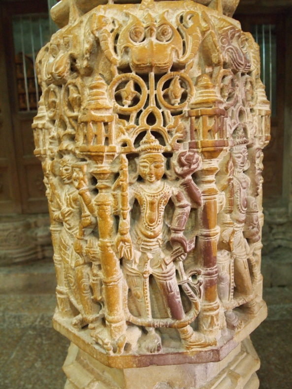 intricate carvings of Hindu gods