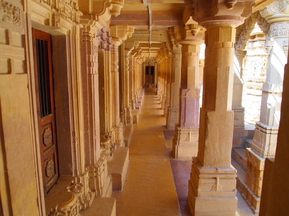 columns in the Jain Temple