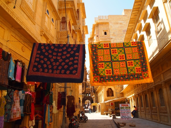 textiles on one of the streets
