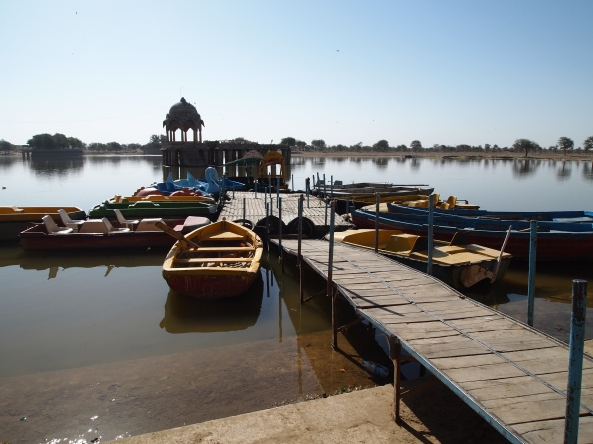 the boats at Gadi Sagar