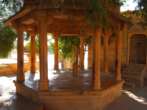 a pavilion outside the Jain Temple