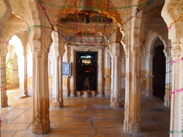 the entrance to the jain temple at Gadi Sagar