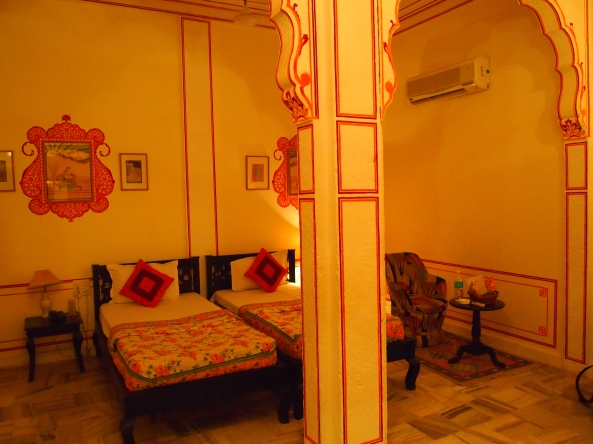 our room at the Pal Haveli ~ FINALLY!!