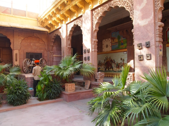 the courtyard of the Pal Haveli ~ a lovely oasis in the midst of Jodhpur