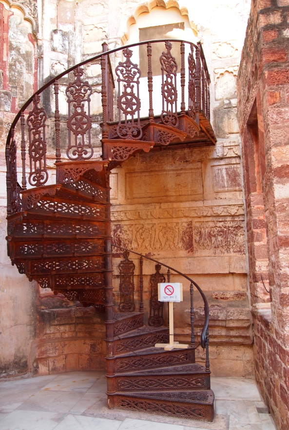 staircase at Mehrangarh Fort