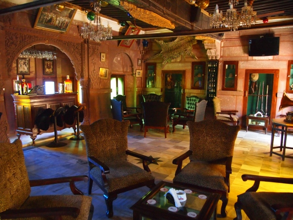 the 18th Century Bar at Hotel Pal Haveli ~ lunch before departure to Udaipur