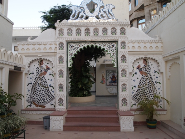 entrance at Hotel Swaroop Vilas