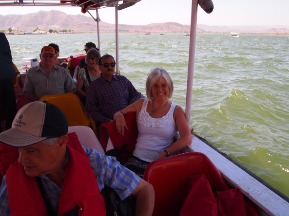 a boatride on Lake Pichola