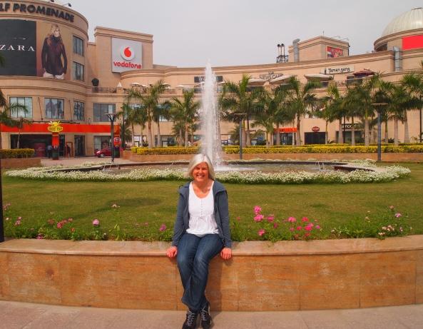 me in front of dlf Promenade