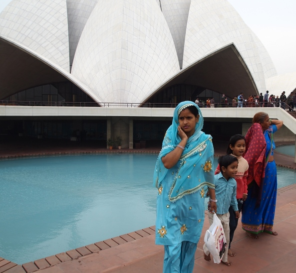 in front of the Lotus Temple