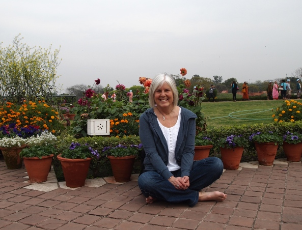 me on the grounds of the Lotus Temple