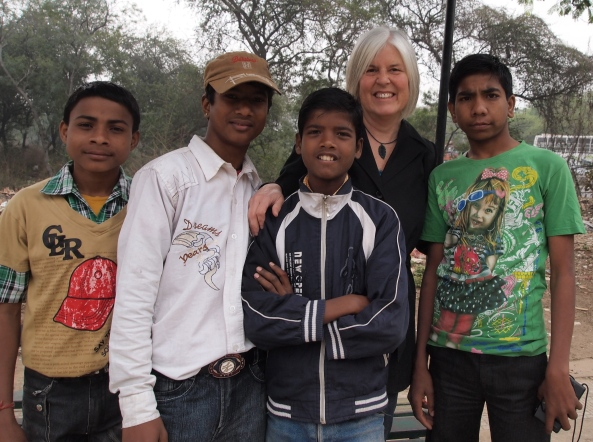 me with some random Indian boys in Delhi