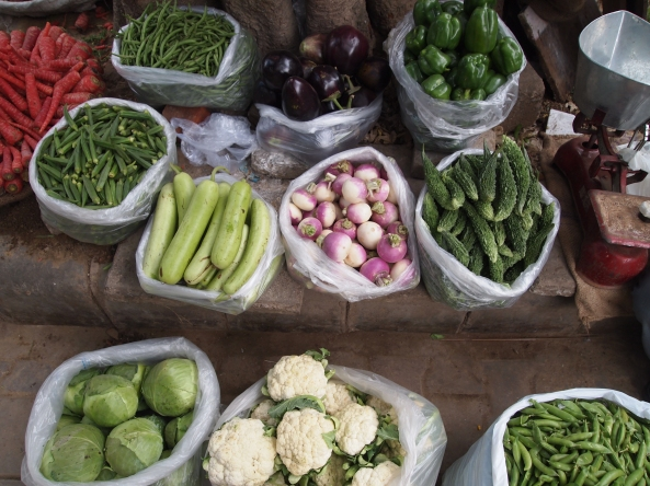 veggies at the local market