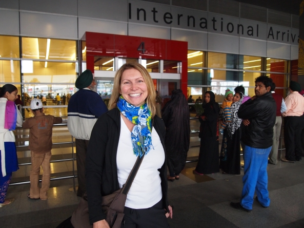 jayne arrives in delhi