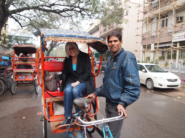 me in the cycle rickshaw