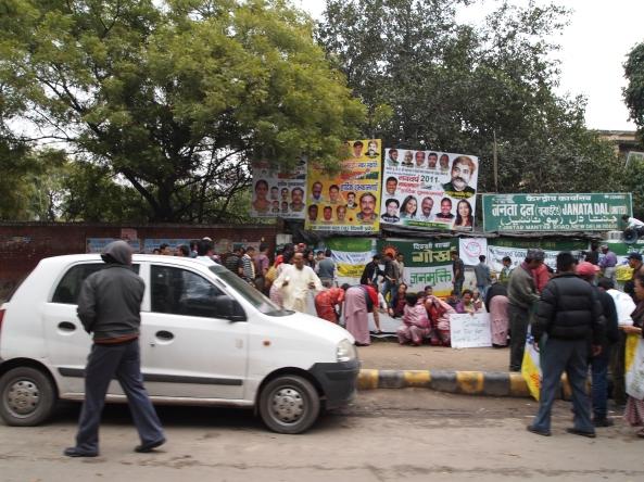 a random street scene in delhi