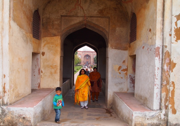 Entering Humayan's Tomb