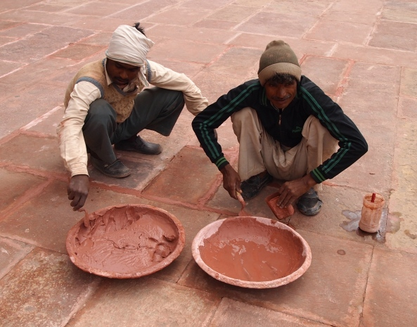 Potters at Humayan's Tomb