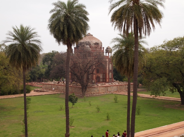 on the grounds of Humayan's Tomb