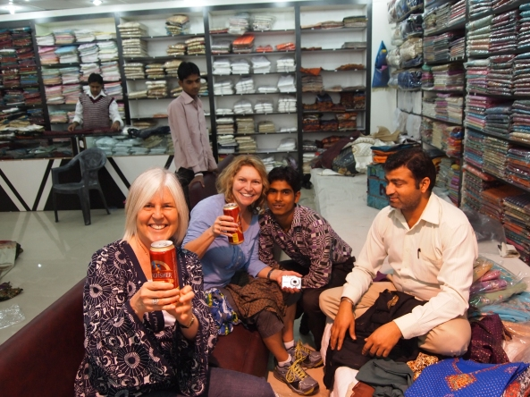 fun times at the delhi haat tailor shop