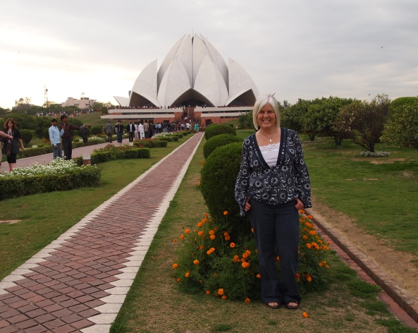 me in front of the Lotus Temple