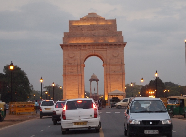 the India Gate in Delhi