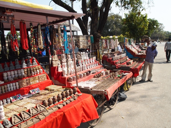 souvenirs outside the archeological museum