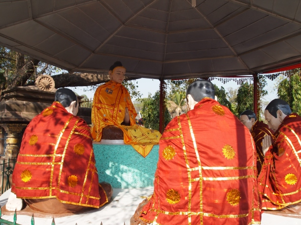 life-size diorama of the Buddha