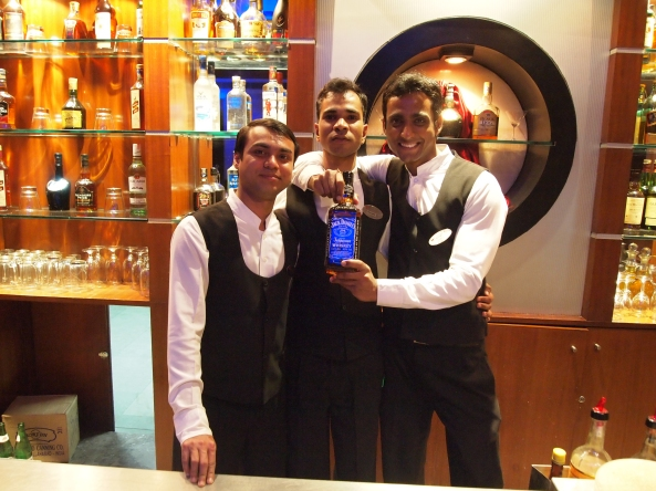 our cute indian bartenders at the Toxic Bar & Lounge ~ fahad is on the right