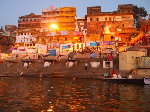 people bathing in the Ganges