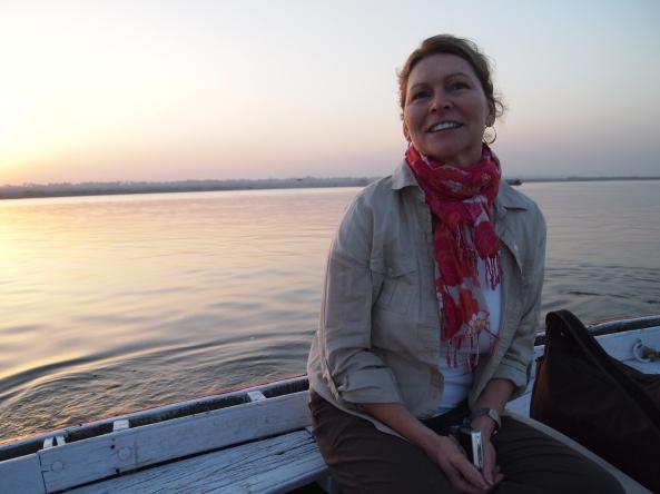 Jayne on the Ganges