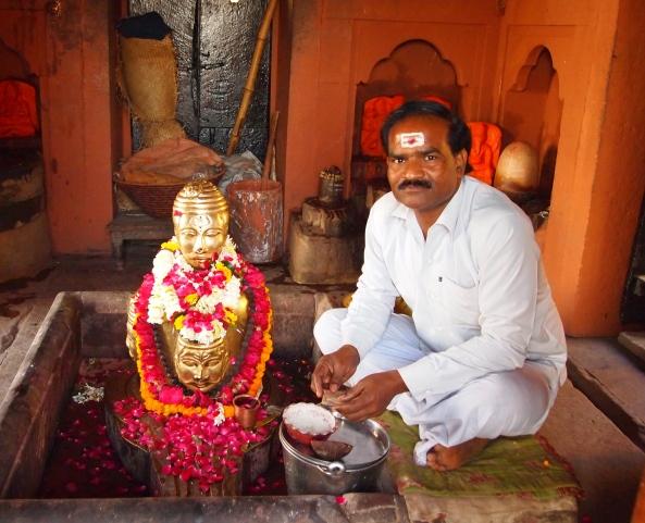 Inside a Hindu temple