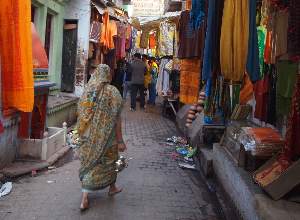 on the streets in Varanasi