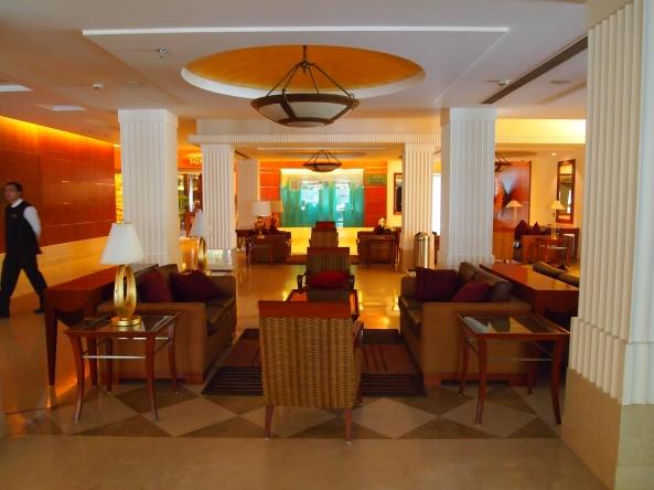 the lobby of the luxurious Ramada