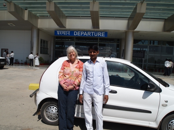 Me with Sanjay at the Varanasi airport