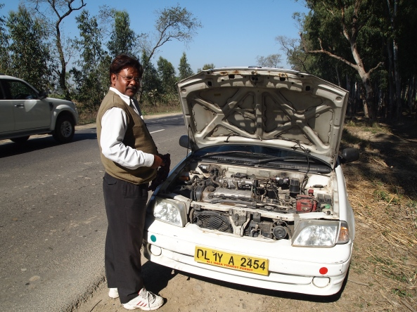 Singh and the our broken down car