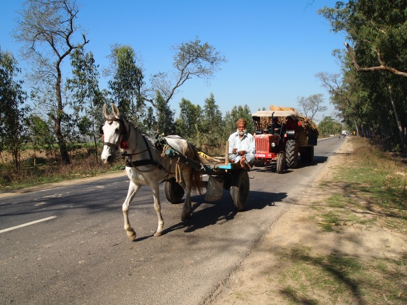 Along the road to Rishikesh.... every kind of imaginable vehicle :-)
