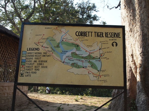 map of Corbett Tiger Reserve