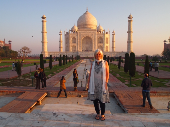 me with the Taj Mahal and its dried-up watercourses