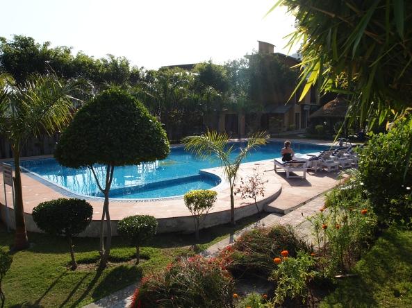 poolside at the narayana palace hotel