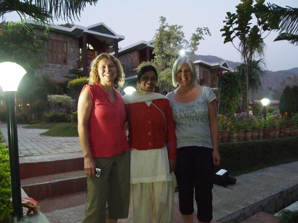 jayne, rajkumari, and me after our yoga session