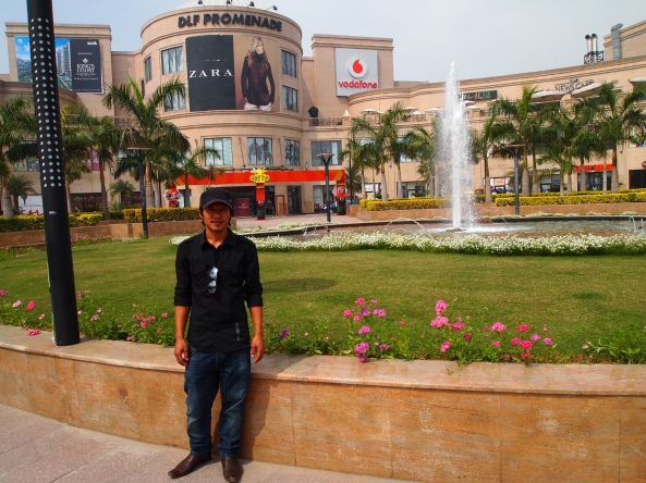 my friend Tao at dlf Promenade Mall