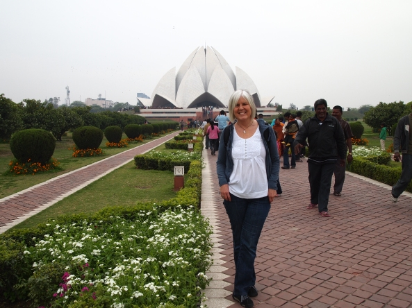 at the Lotus Temple