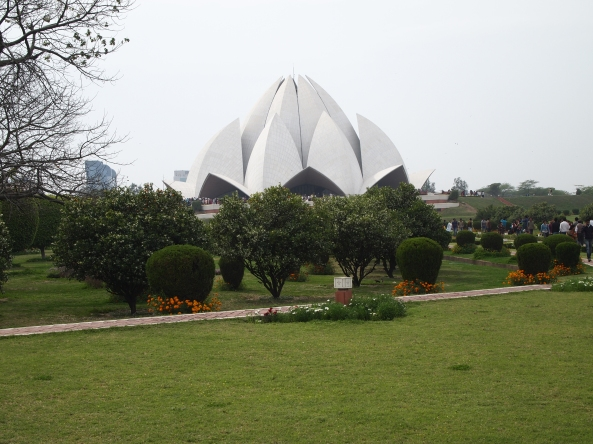 The Lotus Temple and grounds