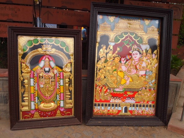 Paintings for sale at Dilli Haat
